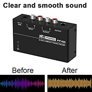 Clear and smooth sound