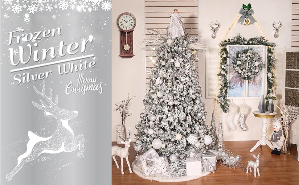 "18/"" Illuminated Ornament Tree by Valerie METALLIC H208707"