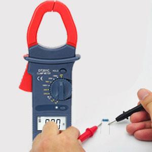 Clamp Meter Poweraxis Digital Multimeter Zangenmessgerät Stromzange Multimeter True Rms Temperaturmessung Außenleiter Identifizierung Durchgangsprüfung Hintergrundbeleuchtung Baumarkt