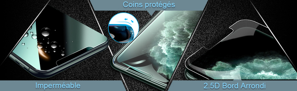 Film Protection écran Verre Trempé iPhone 11, iPhone XR