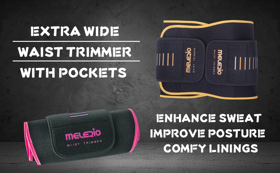 EXTRA WIDE DESIGN, BETTER SUPPORT AND SWEAT, COMFY LINNINGS AND POCKETS