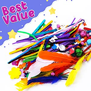 InnoRock Arts and Crafts Supplies for Kids - Assorted Craft Art Supply Kit for Toddlers Age 4 5