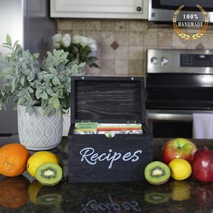recipe box recipe holder recipe box cards recipe cards box card holder black wood recipe box rustic