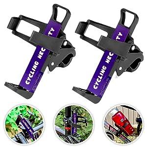 Migimi - Soporte para bici, 2 unidades, soporte para bebidas para bicicleta, cochecito, bicicletas de montaña y sillas de ruedas