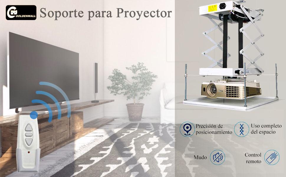 CGOLDENWALL 100CM Soporte para Proyector de Aluminio de Techo con ...