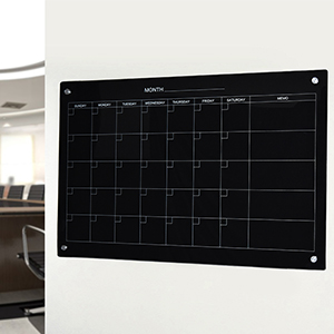 Black Magnetic Wall Mounted Board