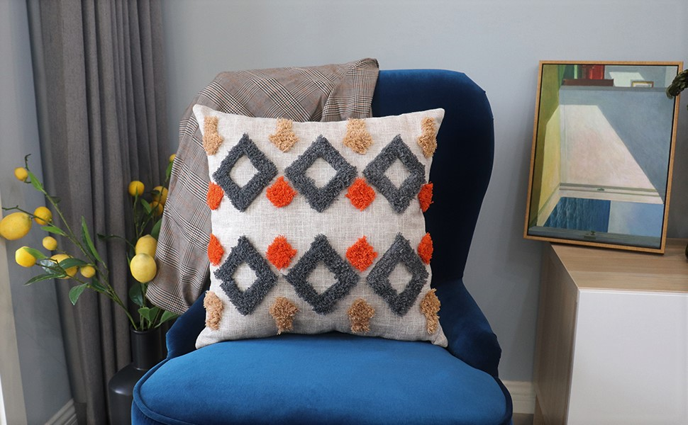 Tribal pillow sham for living room guest room patio outdoor decoration