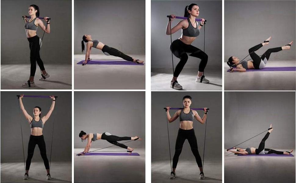 Portable Pilates Stick fitness Bar