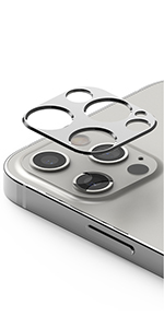 Aluminum frame camera lens protector for iPhone 12 Pro