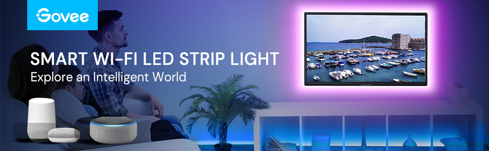 32.8FT led strip lights smart wifi works with alexa google assistant for tv bedroom dining room home