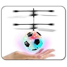Mini dron de Mano Bola Luminosa helic/óptero de Juguete Volador Ligero y Juguetes novedosos de Quadcopter Recargables knowledgi Juguetes de Control Remoto de Bola voladora para ni/ños