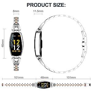 luxury watch tide smart watch stainless steel wrist watch gold silver black women watch girl