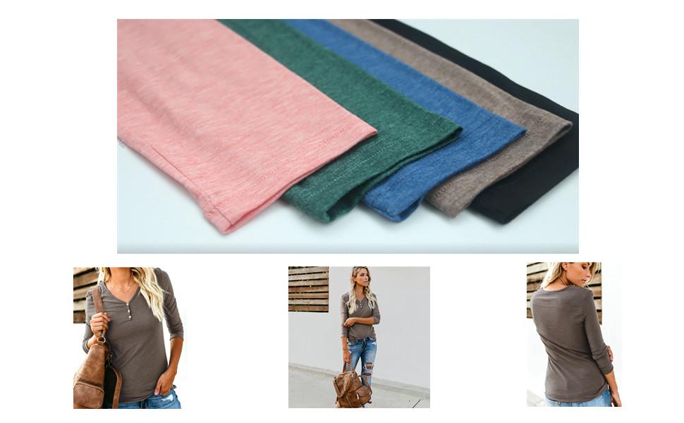 women basic tops long sleeves