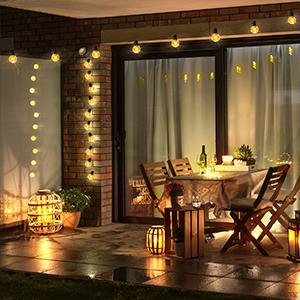 guinguette electrique kit lampion girlande de lumière decoration jardin pour crochet déco maison