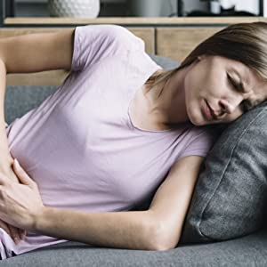 Woman with digestion problems