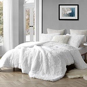 Thick oversized White Fleece Cozy Bedding Blanket Twin XL Full Queen King Stylish Comforter