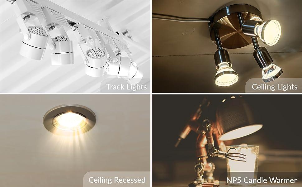halogen gu10 mr16 twist n lock twistline applications track lights ceiling recessed candle warmer