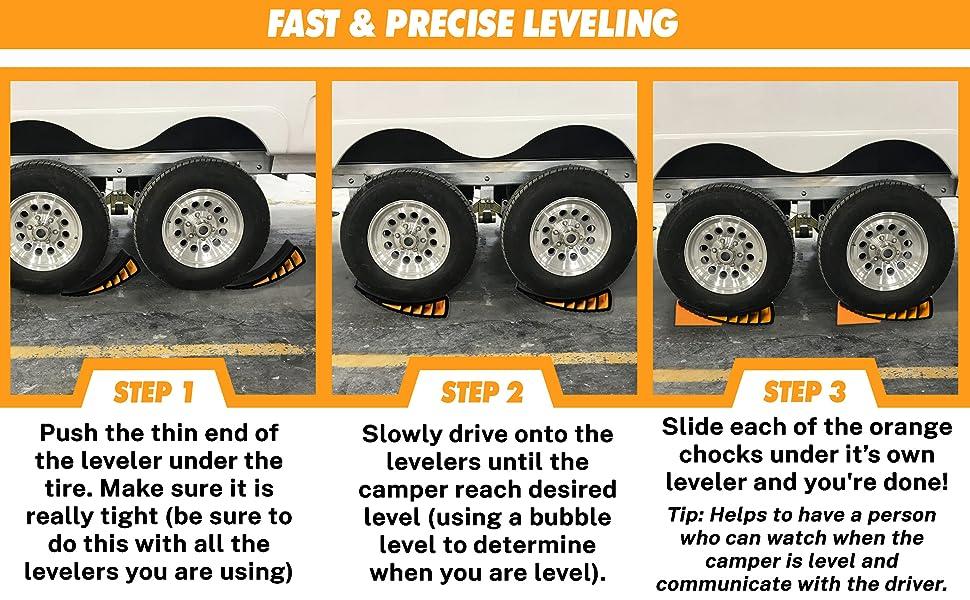 Rv camper Levelers - Leveling steps