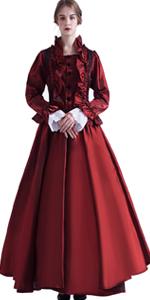 wine red victorian dress