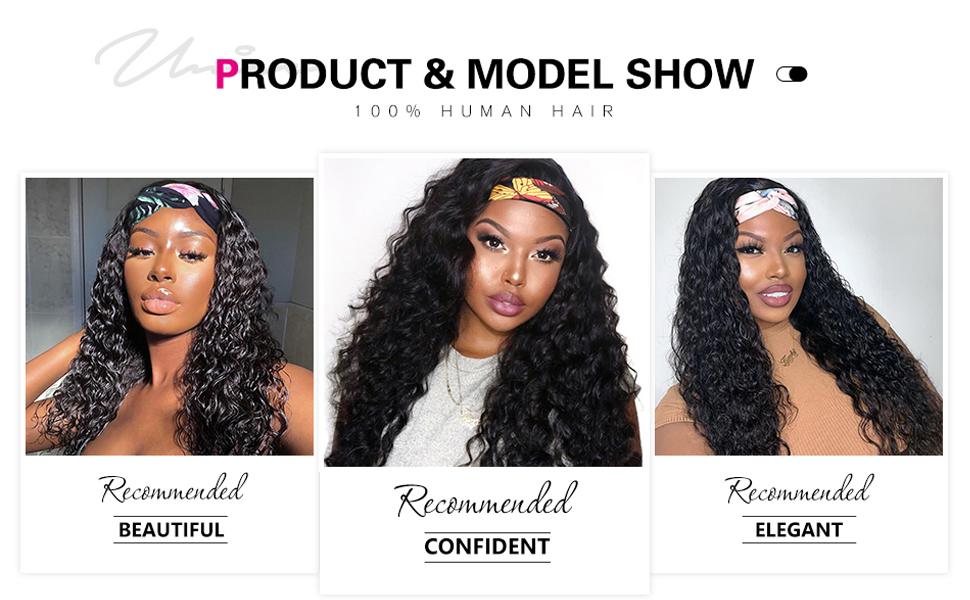 Heaband wig human hair water wave natural wave hair wig for black women