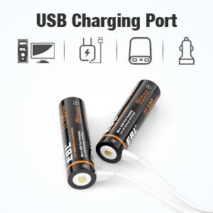 USB rechargeable 3.7v batteries