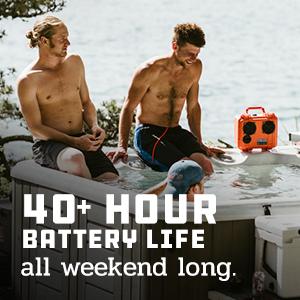 40 hour battery waterproof bluetooth portable outdoor rugged loud speakers demerbox stereo sound