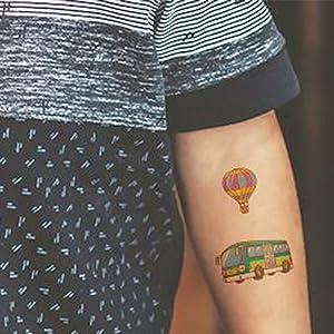 SZSMART Tatuajes de Autos de Dibujos Animados Niños Tatuaje ...