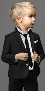 Black n Bianco Boys Slim Fit First Class Slim Fit Suit