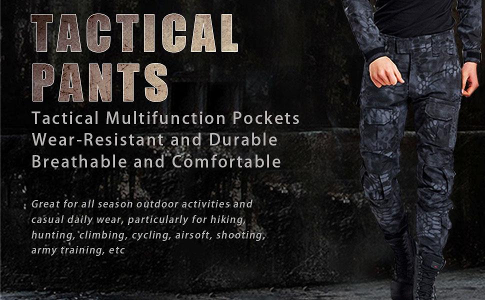 Pantalones militares para hombre