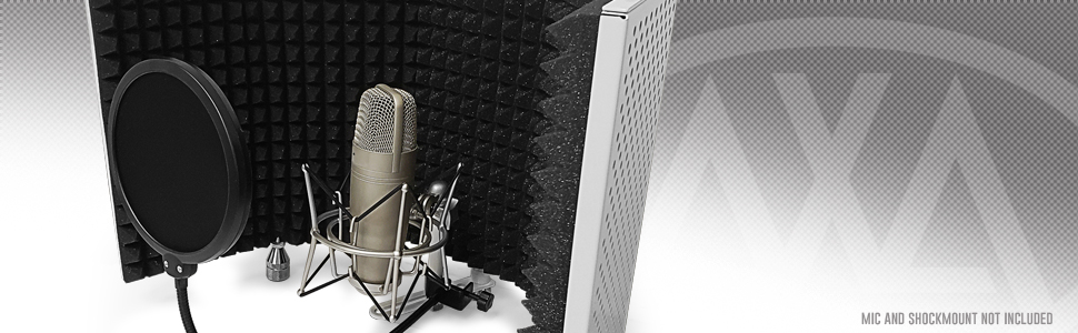 AxcessAbles SF-101 VW Recording Studio Microphone Isolation Shield (White)