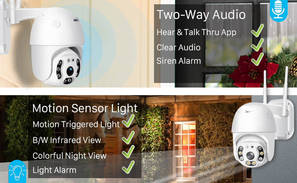 two way audio & motion detection