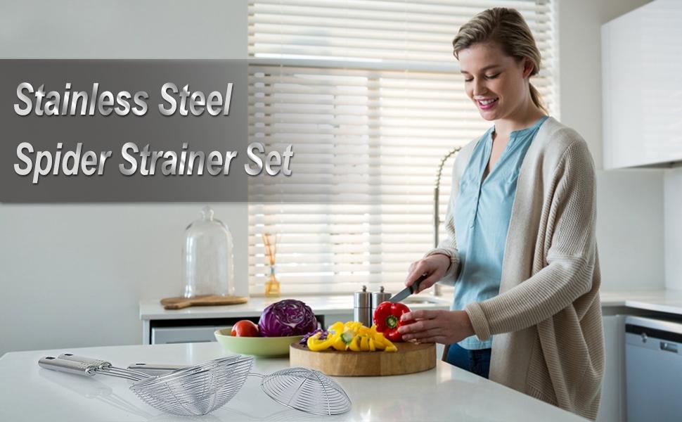 Stainless Steel Spider Strainer Skimmer Ladle