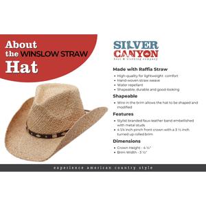Raffia cowboy cowgirl western straw sun hat