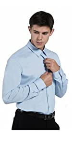 Venzulia mens business casual shirt