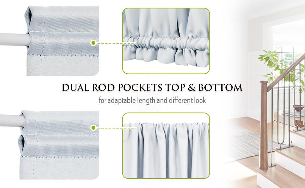 Dual Rod pockets