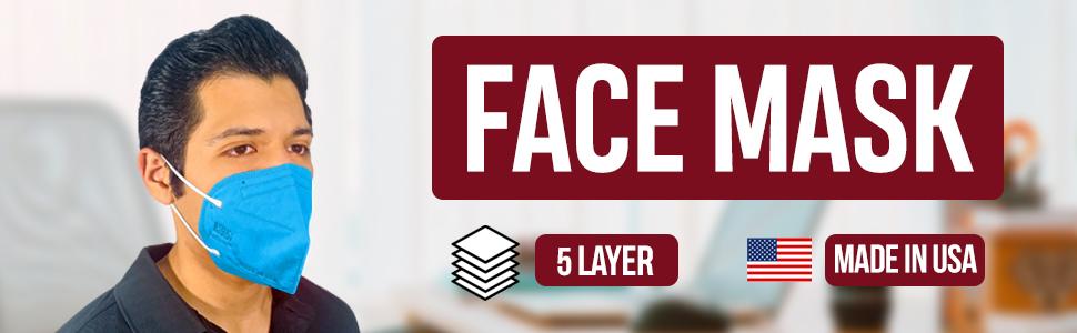 Face Mask Colors Colorful 5 Layer Unique