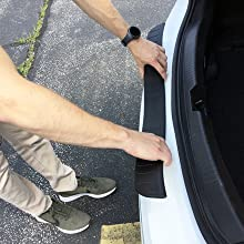 Image Instructing How To Start Placing Bumper Cover, Center Section First