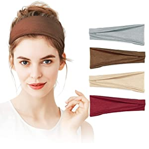 STRETCHY COTTON HEADBANDS FOR WOMEN