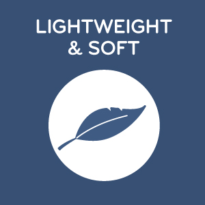 lightweight and soft