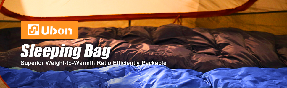 Ubon 10 Degree F Sleeping Bag Water Resistant Ultra Lightweight Down Sleeping Bag YKK zipper