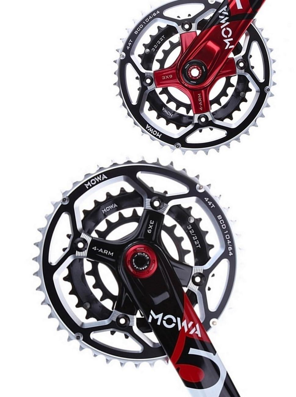 MOWA Five MTB Bicycle Bike 9 10 11 Speed Crank Arm for Shimano//Sram 175mm Red