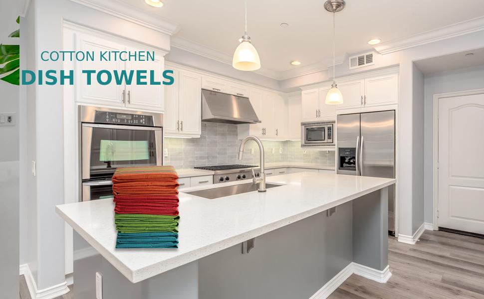 kitchen cotton flour sack dish napkins set