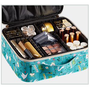 makeup case with compartments
