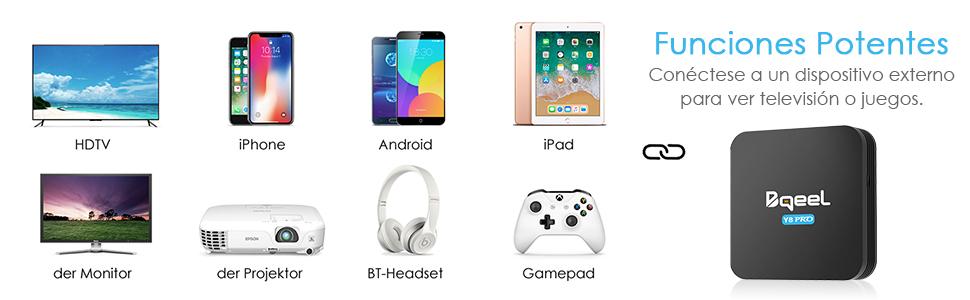 Promoción】 Android TV Box - Bqeel Android 9.0 TV Box 【4GB+32GB】 con Mini Teclado Amlogic S905X3 64-bit Quad Core con Dual-WiFi 2.4GHz/5GHz,BT 4.0, 8K*4K UHD H.265, USB 3.0 Smart TV Box: Amazon.es: