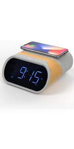 wireless charging alarm clock, Bluetooth alarm clock, radio alarm clock