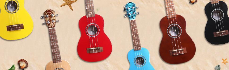 ukulele red soprano ukeleles beginer purple