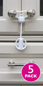 child safety cabinet latch lock door childproof baby strap handle knob kid toddler home