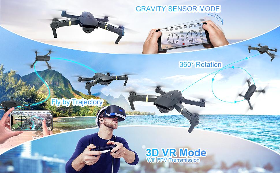 Dron s kamero 720P za otroke in odrasle ter začetni čas letenja