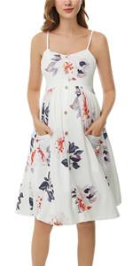 strap materntiy dress