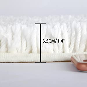 Bathroom Mats Extra Long Bath Mat Non Slip Large Bath Rug Super Absorbent 120X45